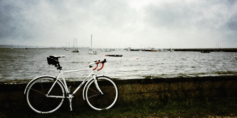 Bike at Keyhaven